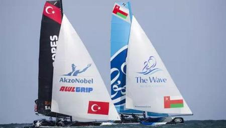 2015极限帆船赛船体涂料由阿克苏诺贝尔提供