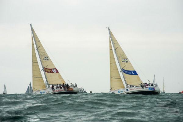 中国杯帆船赛如火如荼 点靓山海天际线图片