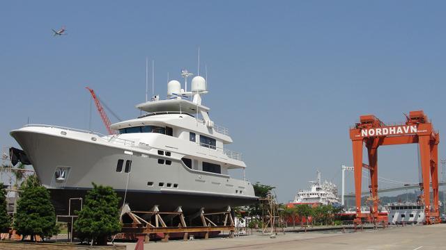 29.56米探险者游艇Nordhavn 9614在厦门工厂推出