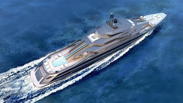 意大利设计师RobertoCurtó揭示101米概念游艇Mauna Kea