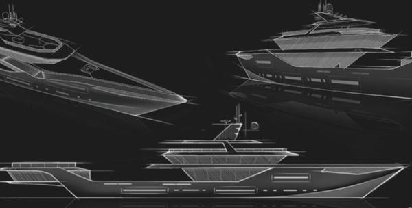 概念游艇,64m Glauca,超级游艇,异想天开!印度设计公司推出超级游艇概念64m Glauca