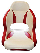 H52 NONE FLIP UP CHAIR; WHITE + RED
