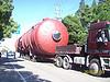金山石化100吨罐体运输
